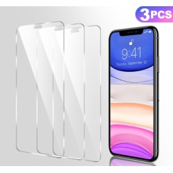 [3-Pack] iPhone X/XS/11 PRO Skärmskydd härdat glas Laicey to F