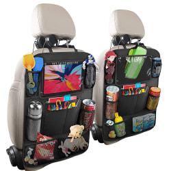 Universal iPad-hållare för bilens baksäte med flera fack, 2-P...