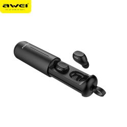 AWEI T55, trådlösa in-ear, bluetooth 5.0, laddningsbox, svart