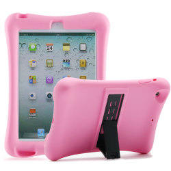 Barnfodral i silikon för iPad mini 1/2/3 rosa