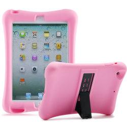 Barnfodral i silikon för iPad mini 4, rosa rosa