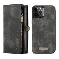 CaseMe 008 Series läderfodral, iPhone 12/12 Pro grå