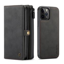 CaseMe 018 Series läderfodral till iPhone 12/12 Pro svart