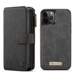 CaseMe läderfodral med magnetskal, iPhone 12/12 Pro svart