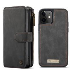 CaseMe läderfodral med magnetskal, iPhone 12 Mini svart