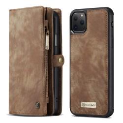 CaseMe plånboksfodral med magnetskal, iPhone 11 Pro brun