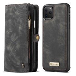 CaseMe plånboksfodral med magnetskal, iPhone 11 Pro Max svart
