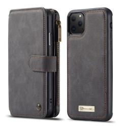 CaseMe plånboksfodral med magnetskal, iPhone 11 Pro svart