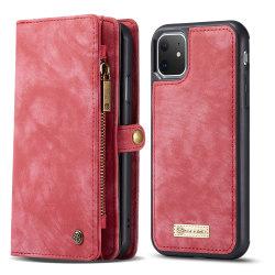 CaseMe plånboksfodral med magnetskal, iPhone 11 röd