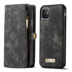 CaseMe plånboksfodral med magnetskal, iPhone 11 svart