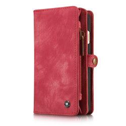 CaseMe plånboksfodral med magnetskal, iPhone 6/6S röd