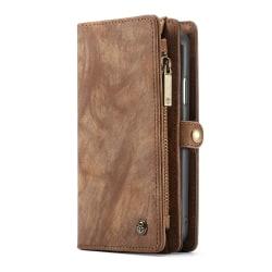CaseMe plånboksfodral med magnetskal, iPhone X/XS brun