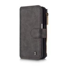 CaseMe läderfodral med magnetskal till Samsung Galaxy S7 svart