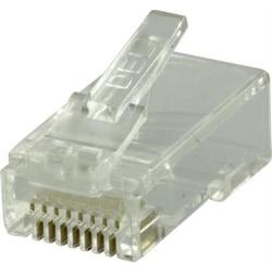 Deltaco 2-delade RJ45 kontaktdon UTP CAT6, 20-pack