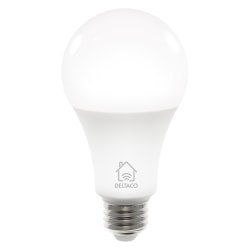 Deltaco Smart Home LED-lampa, E27, WiFi, 9W, 2700K-6500K, dimbar
