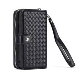 Exklusivt plånboksfodral med magnetskal, iPhone 11 svart