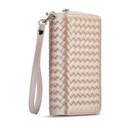 Exklusivt plånboksfodral med magnetskal, iPhone XR rosa