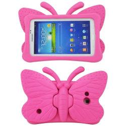 Fjärilsformat barnfodral, Samsung Tab 3 7.0/4 7.0/A 7.0, rosa