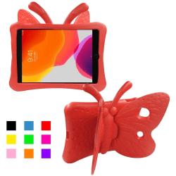 Fjärilsformat barnfodral till iPad Air 3/Pro 10.5/10.2 röd