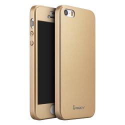 IPAKY Helomslutande skal och skärmskydd till iPhone 5/5S, guld guld