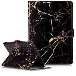 Läckert läderfodral marmor, svart, iPad Air svart
