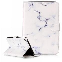 Läckert marmorerat läderfodral till iPad Mini 4, vit vit