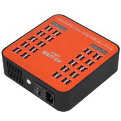Laddningsstation med LCD-display 40xUSB 3A, 200W orange