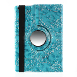 Läderfodral blommor blå, iPad Air blå