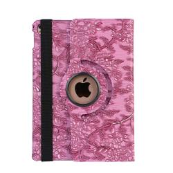 Läderfodral blommor ljuslila, iPad Air