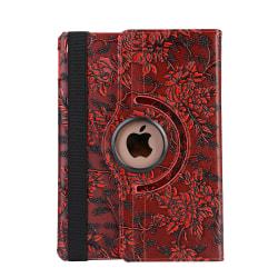 Läderfodral blommor röd, iPad Air
