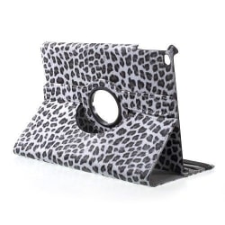 Läderfodral leopard grå, iPad 9.7 (2017-2018)
