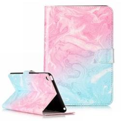 Läderfodral med kortplats, iPad Mini 4, rosa/blå