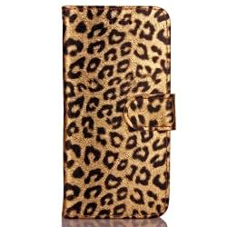 Läderfodral med kortplats till iPhone 6/6S, leopard