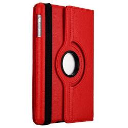Läderfodral med roterbart ställ, iPad Mini/2/3 röd