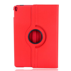 Läderfodral med roterbart ställ till iPad Air 3 + Pro 10.5 röd