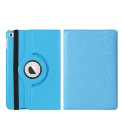 Läderfodral med roterbart ställ ljusblå, iPad mini 4 blå