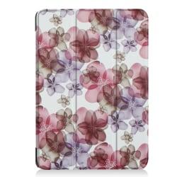 Läderfodral med ställ blommor, iPad Air 3, Pro 10.5 flerfärgad