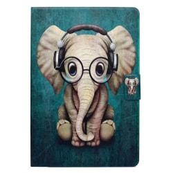 Läderfodral med ställ, iPad Mini 4/5, Elefant grön