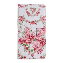 Läderfodral med ställ, rosor, iPhone 11