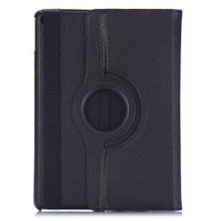 Läderfodral med ställ svart, iPad Air svart