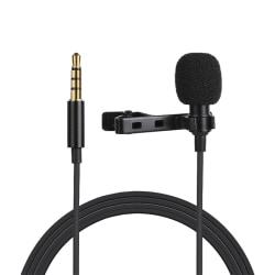 Lavalier-mikrofon/mygga för mobiler, 3.5mm, 10V