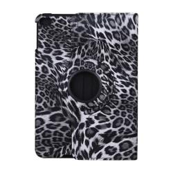 'Leopard' Läderfodral med roterbart ställ, iPad Mini 4/5 grå