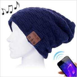 Mössa med Bluetooth-headset Mörkblå