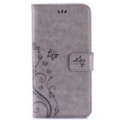 Plånboksfodral med kortplats grå, iPhone 6 Plus grå