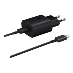 Samsung originalladdare Fast Charging TA-800 + USB-C kabel svart