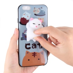 Skal med Squish, kattmotiv vit, iPhone 8