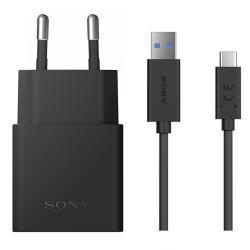 Sony original laddare UCH12 + UCB30 USB-C kabel svart 1 m