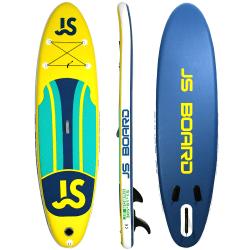 Uppblåsbar Stand Up Paddle Board Blå/gul