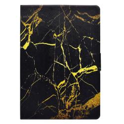 Vackert läderfodral till iPad Air 3 och Pro 10.5, svart marmor