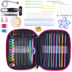 100pcs Crochet Hook Set Knitting Needles Sewing Tools as the picture